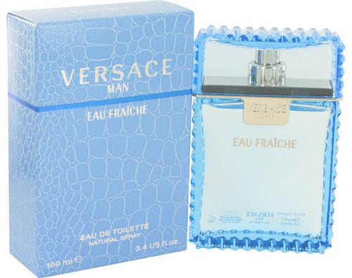 FRAGRANCE Versace Man Cologne 3.4 oz Eau Fraiche Eau De Toilette Spray