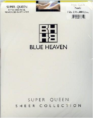 Blue Heaven Queen 2 Sheer Pantyhose 5X-6X 250-300 Lb ~12