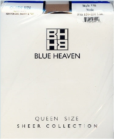 Blue Heaven Queen Sheer Pantyhose 1X-4X 150-250 Lb ~12