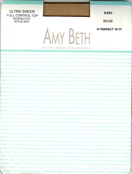 Amy Beth Ultra Sheers SF 12 Pack ~12