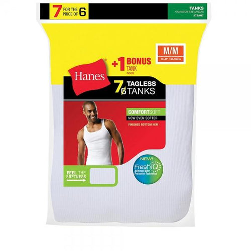 Hanes Men's TAGLESS® ComfortSoft® A-Shirt 7-Pack (Includes 1 Free Bonus A-Shirt)
