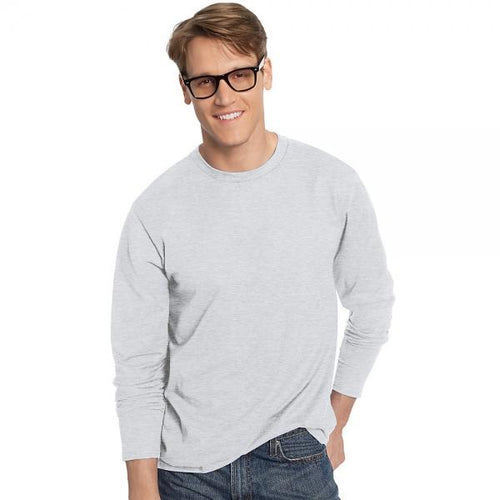 Hanes TAGLESS® Nano-T® Men's Long-Sleeve Tee