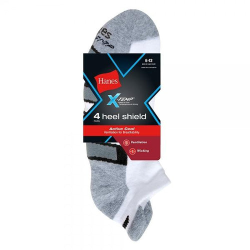 Hanes Men's X-Temp® Arch Support Low Cut Socks 4-Pack