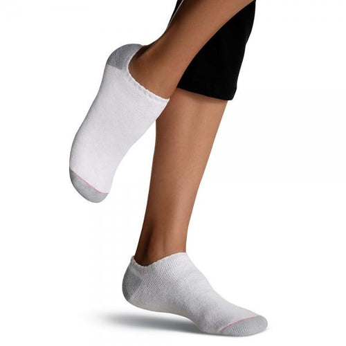 Hanes Women's No Show Socks Extended Size 10 Pack