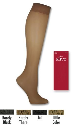 Hanes Alive Full Support Sheer 1 Size Knee Highs70