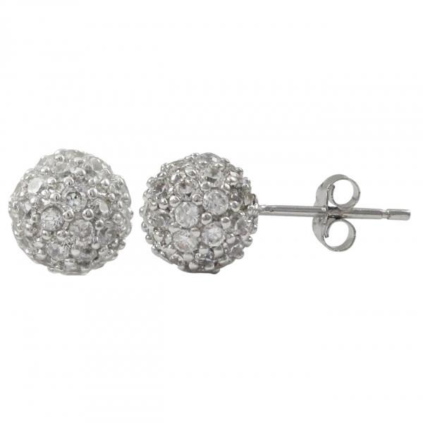 DLF Sterling Silver Post Earrings
