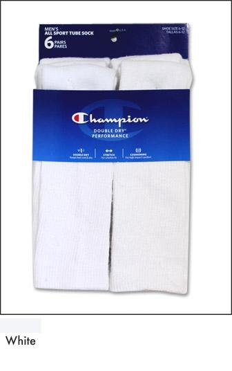 Champion Men's Performance All Sport Tube Sock