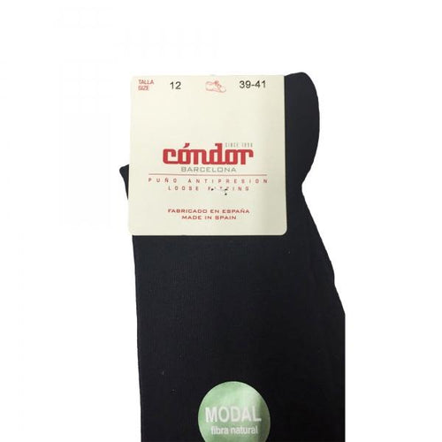 Condor Modal Womens/Childrens Knee Black Sock