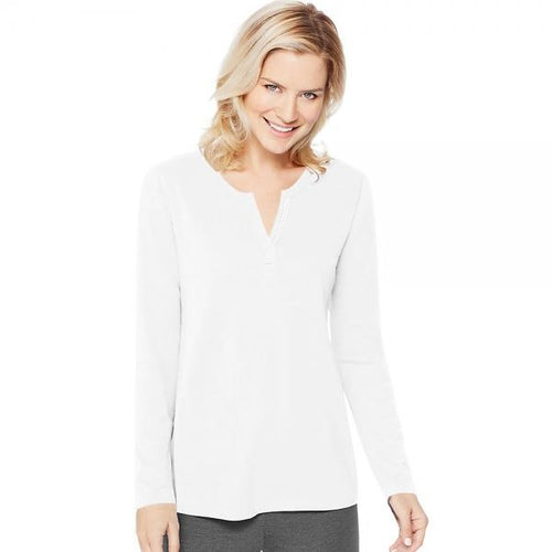 Women's Hanes Lightweight Split Neck Tunic