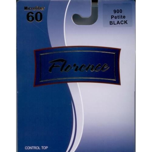Florence Microfiber Footless Black Opaque  60