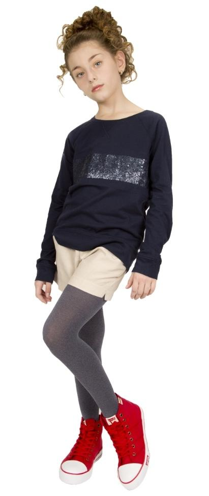 Memoi 60 Opaque Heather Kids Tights Grey Heather