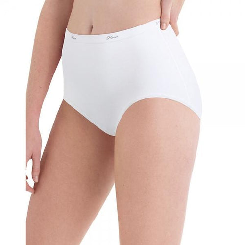 Hanes Women's Cotton White Brief 10-Pack