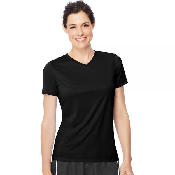 Hanes Women's Cool DRI® V-Neck T-Shirt