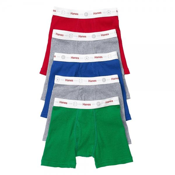 Hanes Toddler Boys' Boxer Briefs with Comfort Flex® Waistband 5-Pack S17