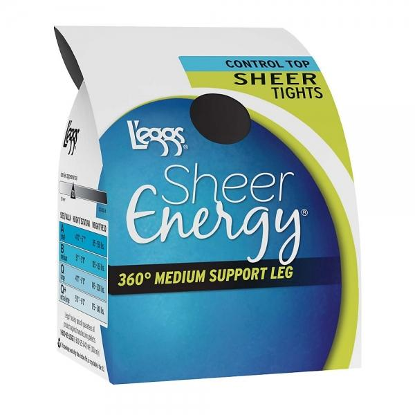 L'eggs Sheer Energy Control Top Sheer Tight ~3
