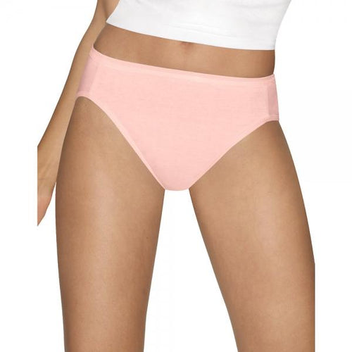 Hanes Ultimate? Comfort Cotton Hi-Cut Panties 5-Pack