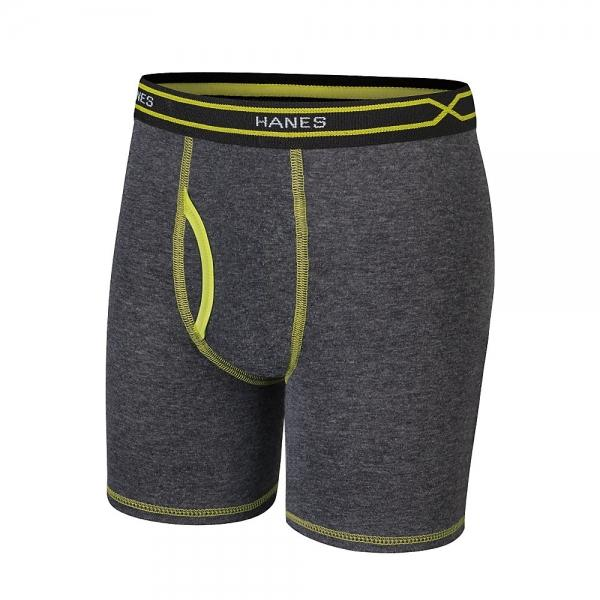 Hanes X-Temp® Boys' Long Leg Boxer Brief with Comfort Flex® Waistband 4-Pack - New Style Assorted