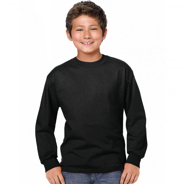 Hanes Youth ComfortSoft® TAGLESS® Long-Sleeve T-Shirt S17