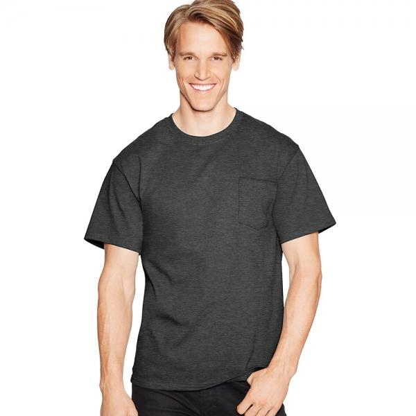 Hanes TAGLESS® Pocket T-Shirt