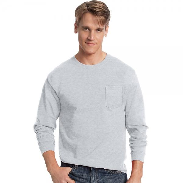 Hanes Men's TAGLESS® Long-Sleeve T-Shirt with Pocket