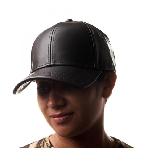 Legaacy Faux Leather Baseball Cap