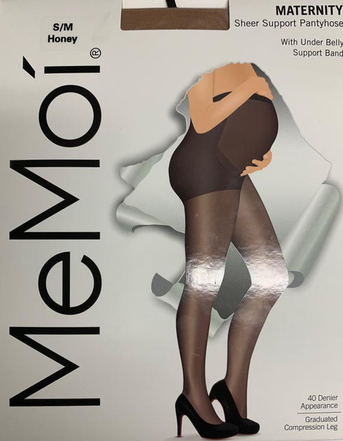 MeMoi 40 Maternity Sheer Support Pantyhose