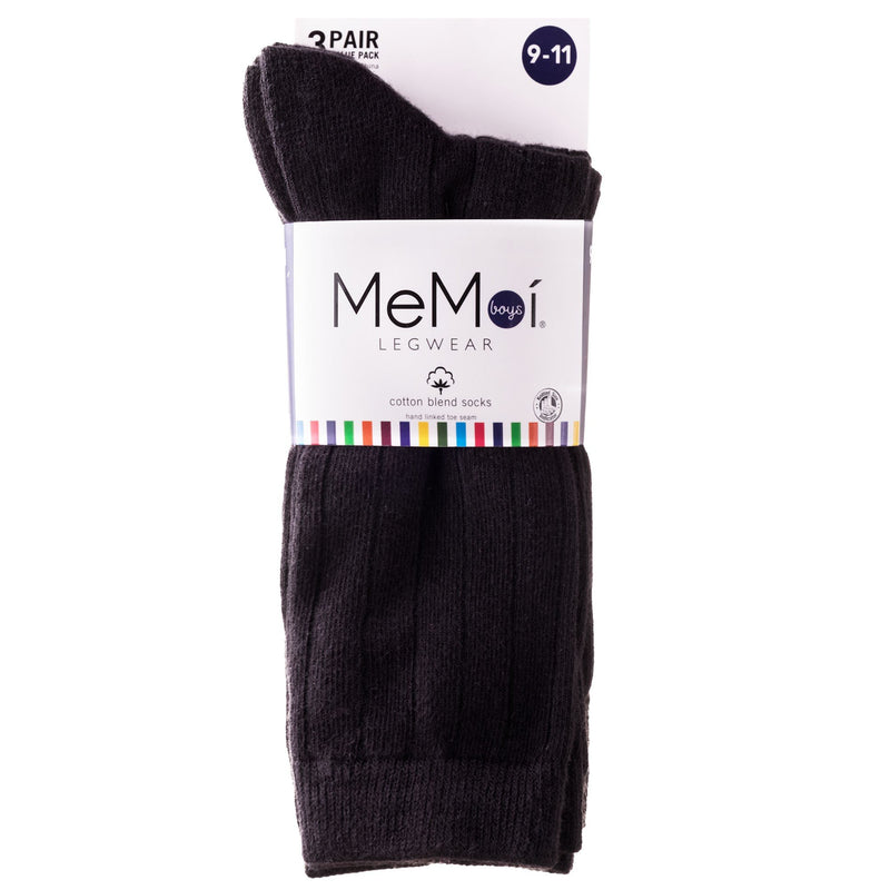Memoi 3 Pair Boy Sock