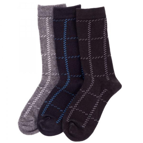 Memoi Boys / Mens Window Pane Sock