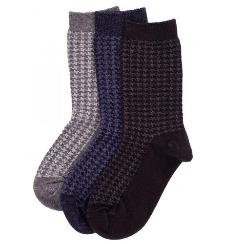 Memoi Boys / Mens Houndstooth Sock