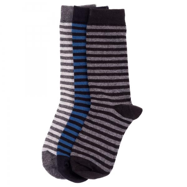 Memoi Boys / Mens Two Color Stripe Sock
