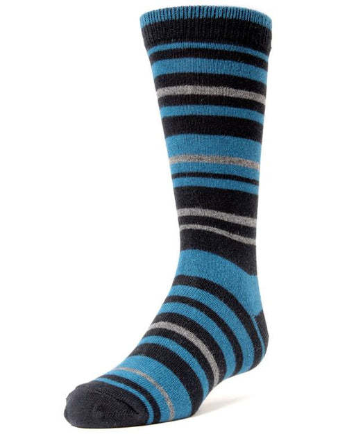 Memoi Boys / Mens Multi Stripe Sock