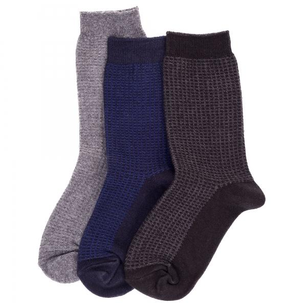 Memoi Boys / Mens Diamond Texture Sock