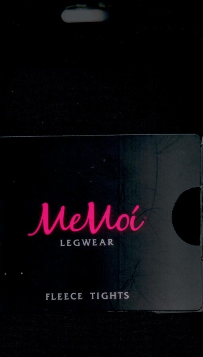 Memoi Fleece Opaque Tights 90 Black ~3