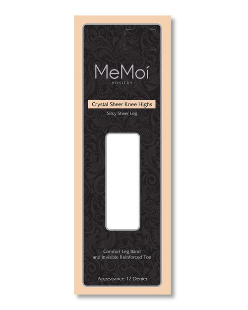 Memoi Crystal Sheer Knee High 12
