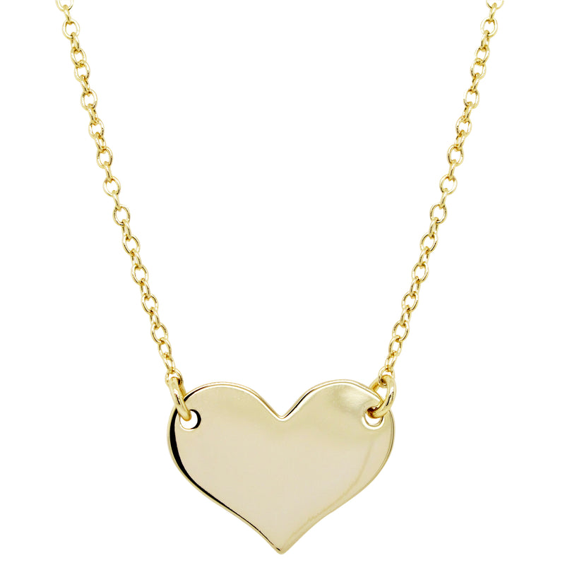 DLF HEART, GOLD PLATED BRASS CHAIN NECKLACE