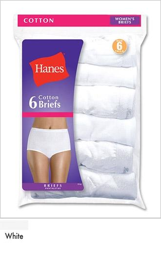 Hanes Cotton Brief 6 pack Asst