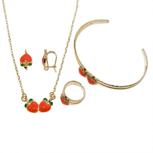 DLF Brass Enamel Peach Set
