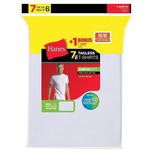 Hanes Men's TAGLESS® Crewneck Undershirt 7-Pack (Includes 1 Free Bonus Crewneck) - Best Seller!