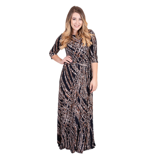 Ontario Maxi Leopard Women's Dress