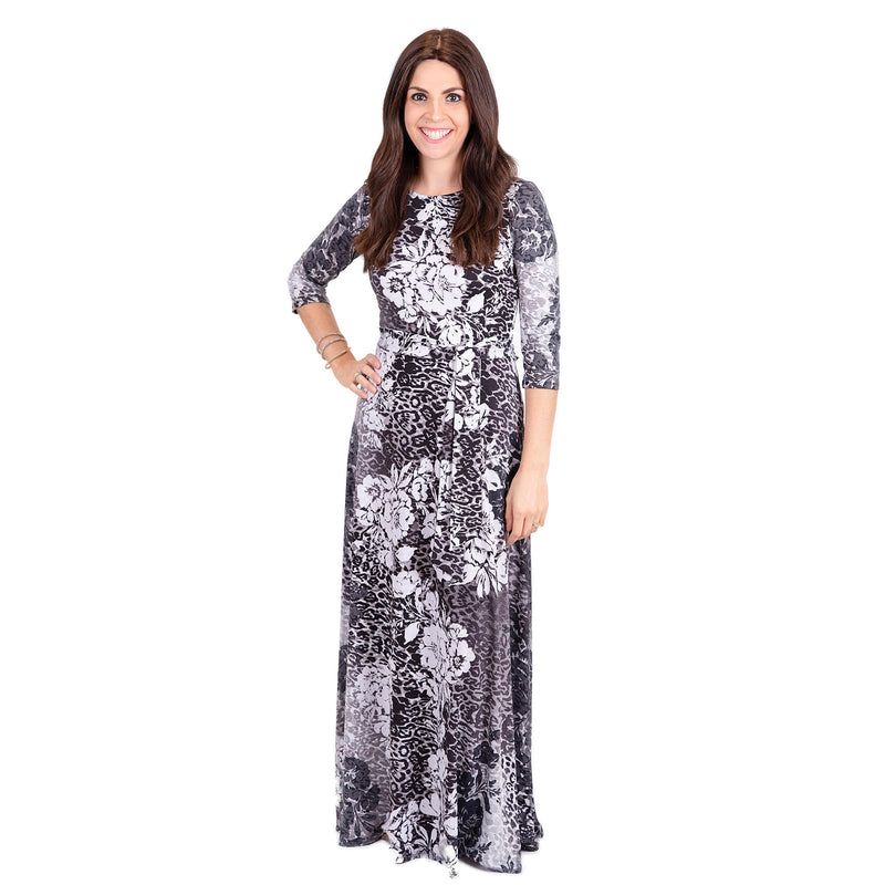 Ontario Maxi Flower Print Women's Dress