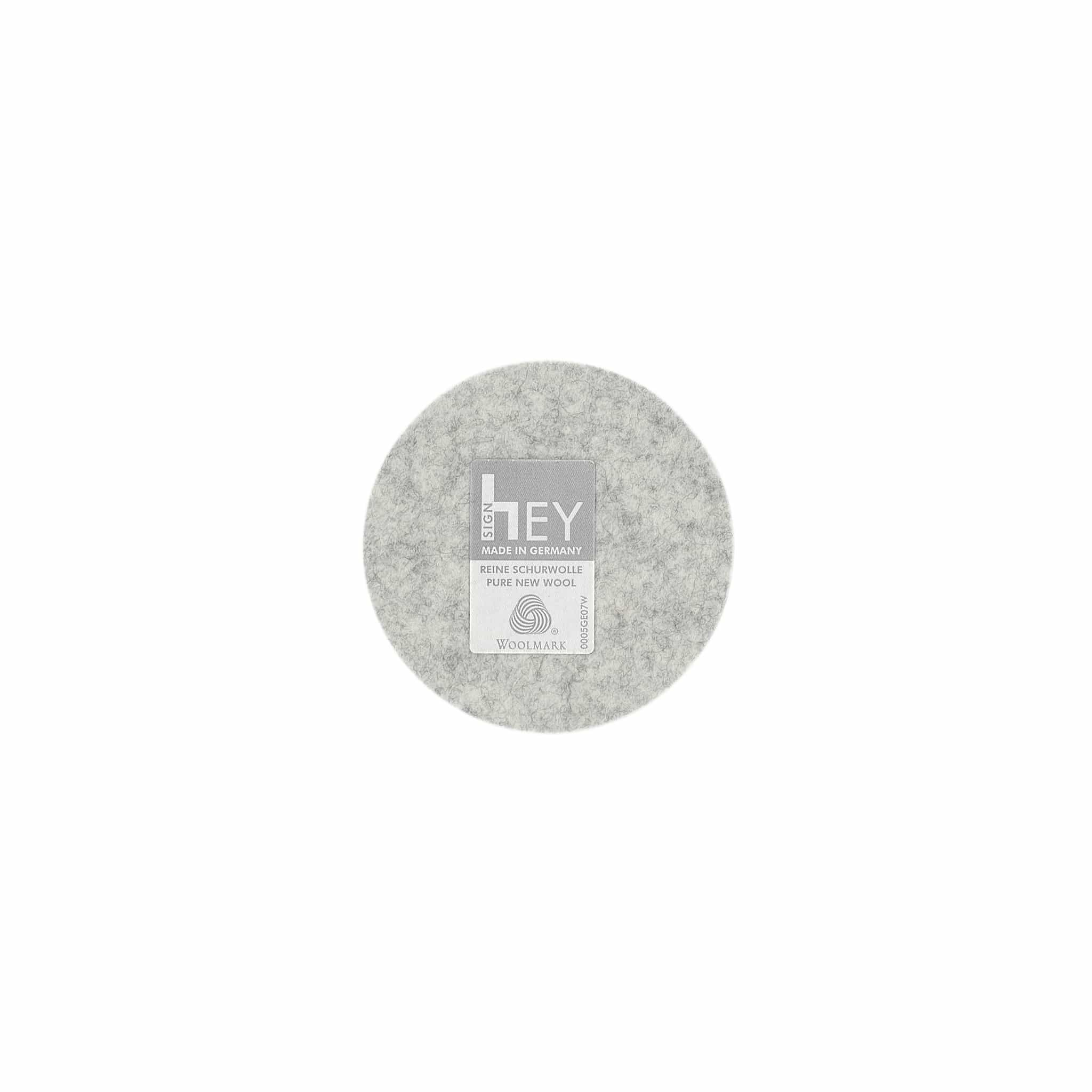 Round Felt Coaster in Marble by Hey-Sign 300150906 looking at Back
