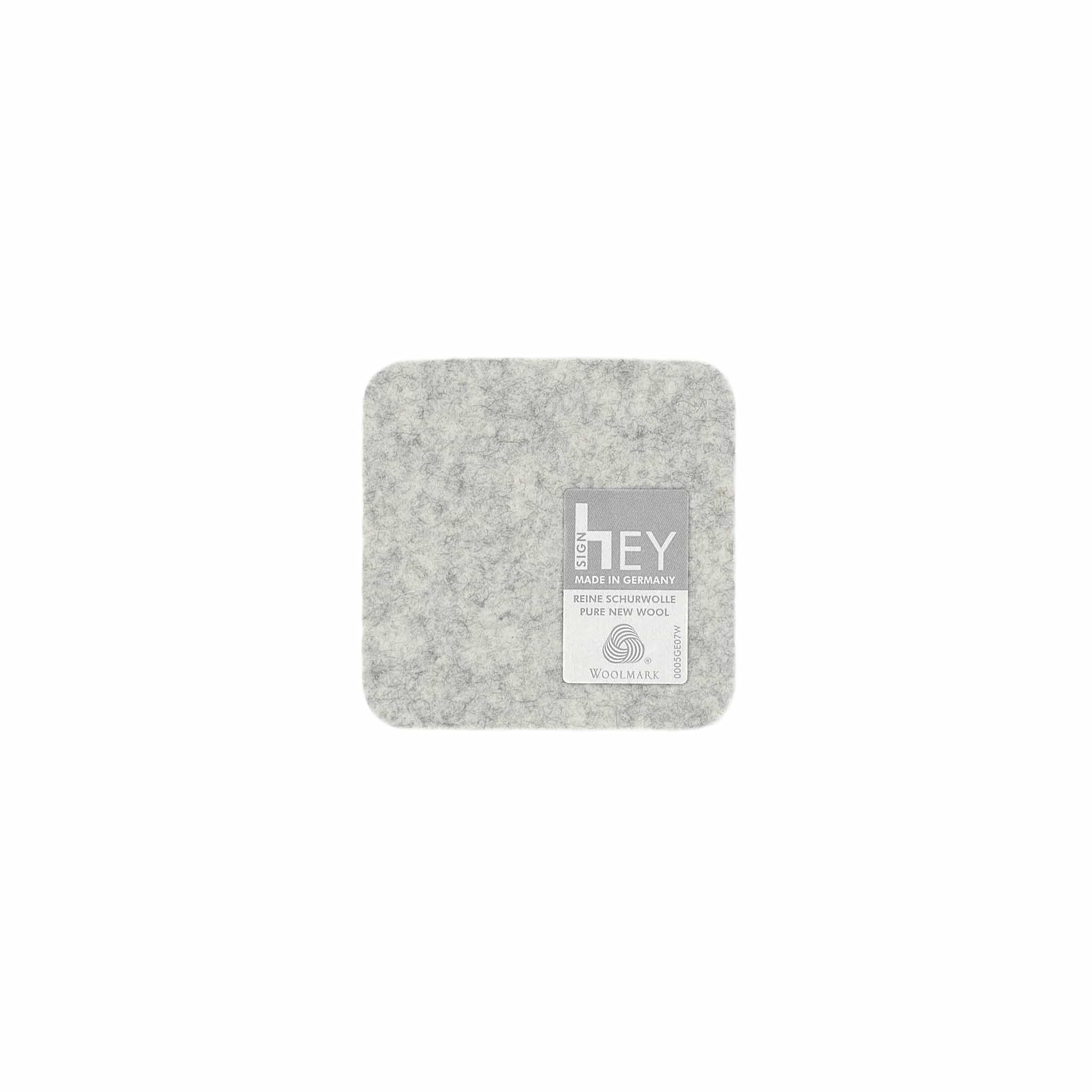 Square Felt Coaster in Marble by Hey-Sign 300160906 looking at Back