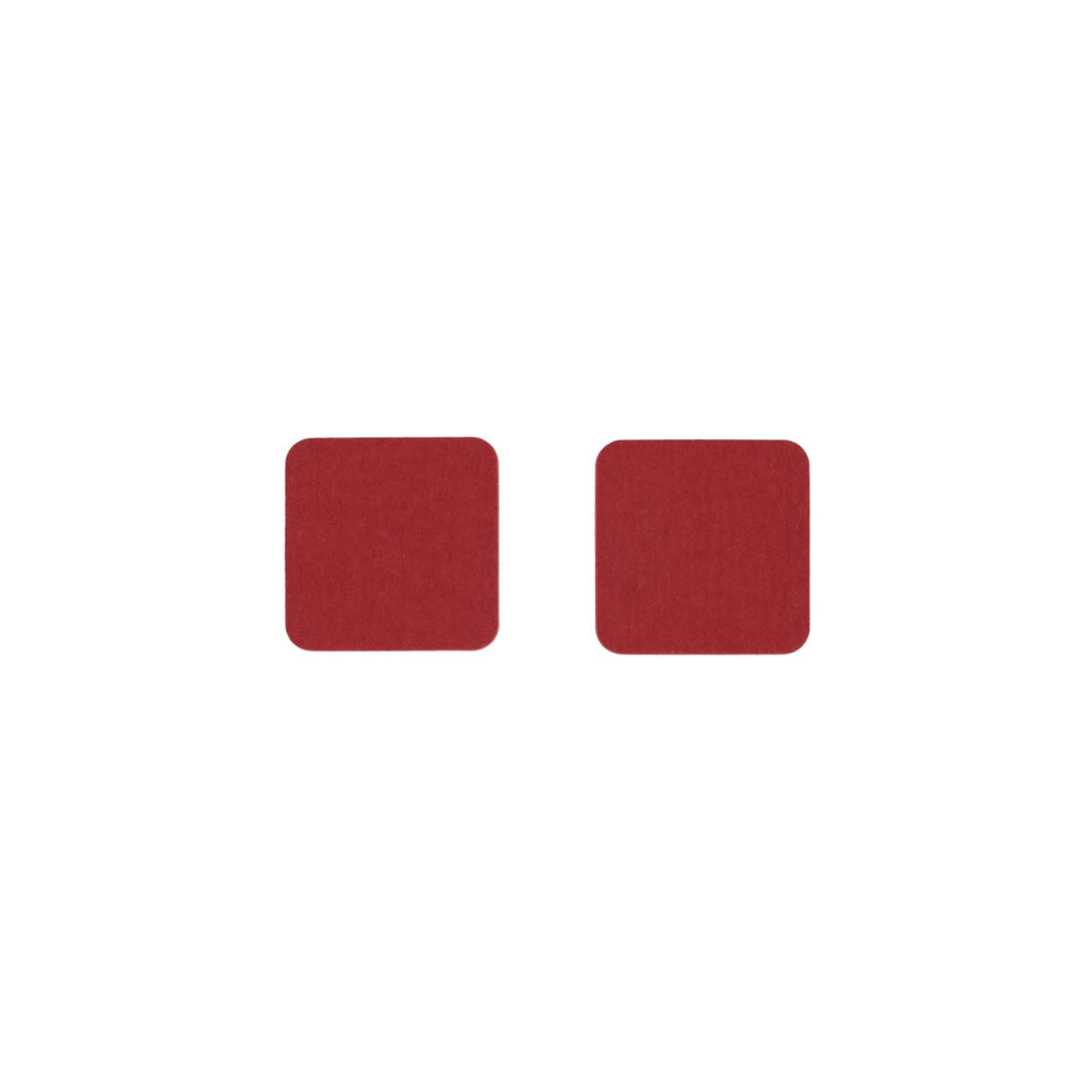 Square Felt Coaster in Red by Hey-Sign 300160902 looking at Front-Wide
