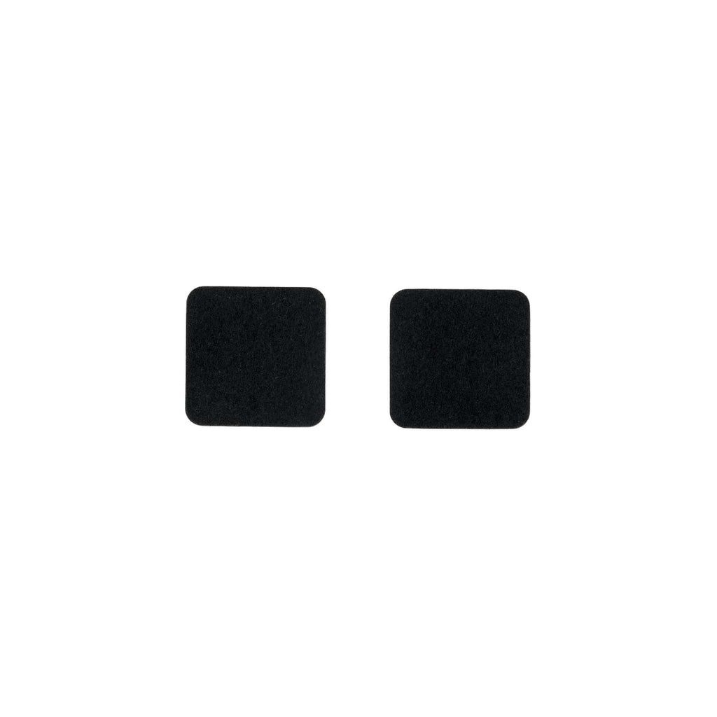 Square Felt Coaster in Black by Hey-Sign 300160902 looking at Front-Wide