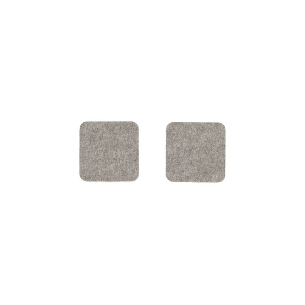 Square Felt Coaster in Light-Grey by Hey-Sign 300160907 looking at Front-Wide