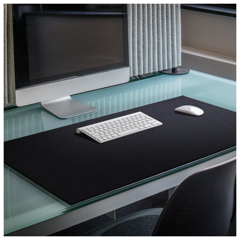 Rectangular Felt Desk Pad in Black by Hey-Sign 300109002 looking at wide Lifestyle Image
