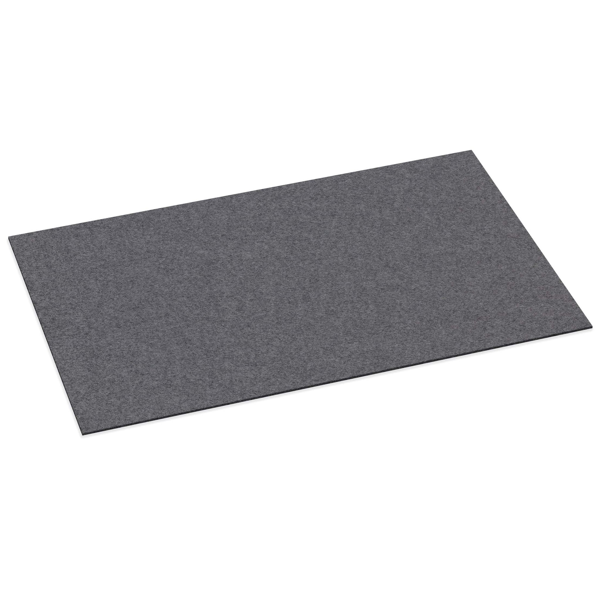 Rectangular Felt Desk Pad in Charcoal by Hey-Sign 300109001 looking at Front-Angle