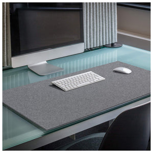 Rectangular Felt Desk Pad in Charcoal by Hey-Sign 300109001 looking at wide Lifestyle Image