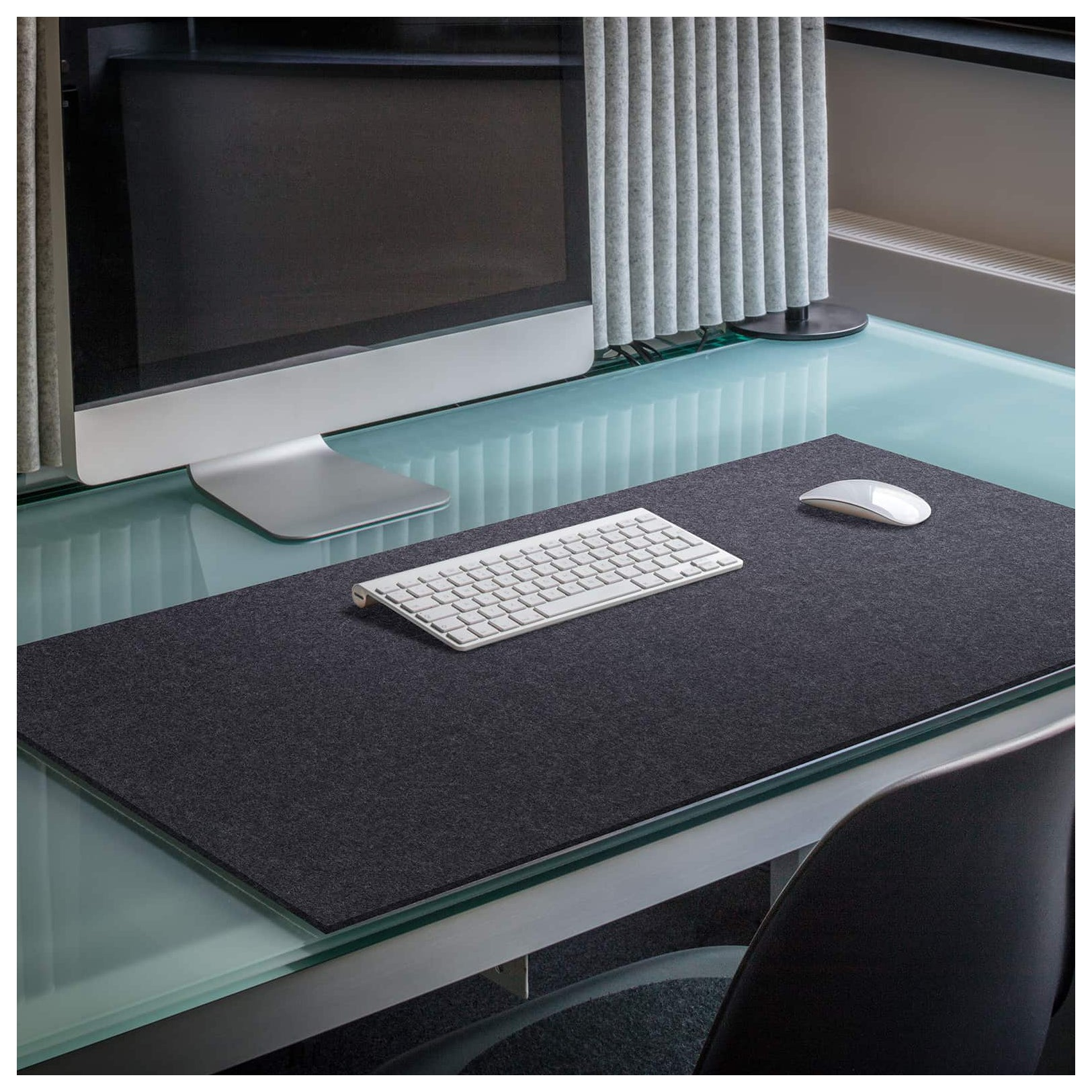 Rectangular Felt Desk Pad in Graphite by Hey-Sign 300109008 looking at Lifestyle Image