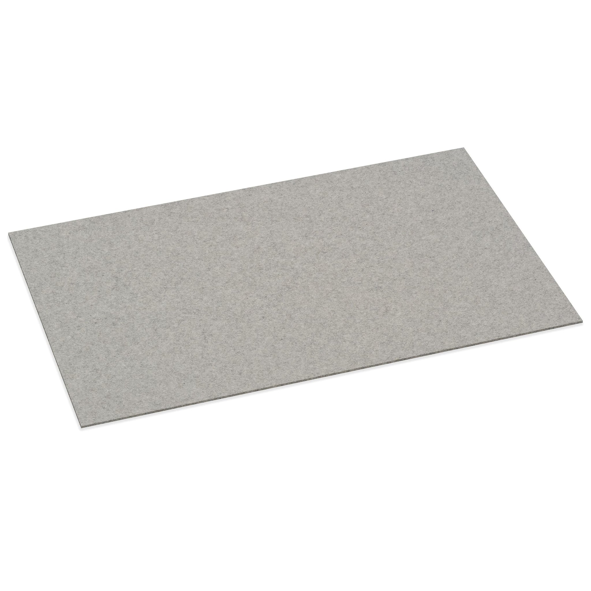 Rectangular Felt Desk Pad in Light Grey by Hey-Sign 300109007 looking at Front-Angle